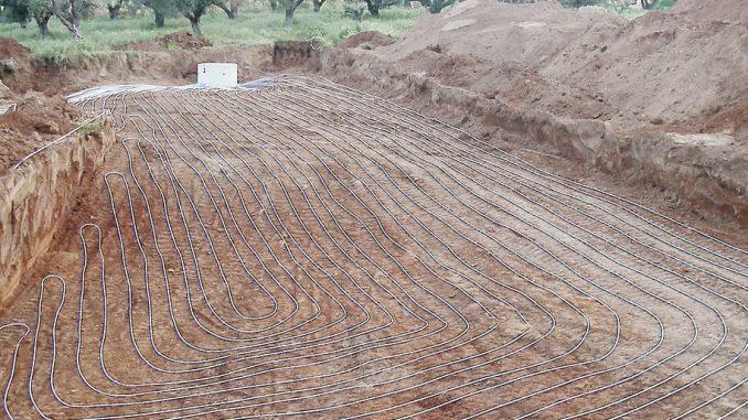 talajkollektor - horizontális talajszonda